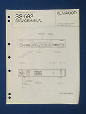 KENWOOD SS-592 PROCESSOR SERVICE MANUAL ORIGINAL FACTORY ISSUE GOOD COND