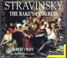 STRAVINSKY: THE RAKE'S PROGRESS Robert CRAFT 2CD Music Masters John Cheek NEU