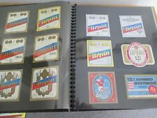 CZECH & SLOVAK REPUBLICS BEER LABELS in Album, Approx 675 labels