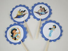Aladdin and Jasmine Cupcake Toppers, Food Picks, Birthday Party Decorations