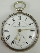 Antique silver pocket watch John Forrest London not working for parts or repair