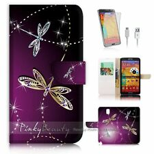 Samsung Galaxy Note 3 Flip Wallet Case Cover! P1844 Dragonfly