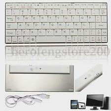 Aluminum Slim Bluetooth Wireless Keyboard For iPad IOS Samsung Android PC Tablet