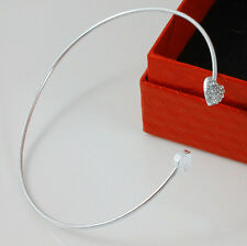 FASHION Jewelry Adorabile Argento Strass Amore Cuore Bracciale Bangle Bracciale