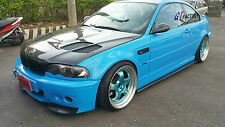 NEW FOR BMW E46 M3 ONLY CARBON SIDE SKIRT EXTENSION SPOILER SET