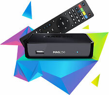 MAG 250 HD IPTV Set Top Box IPTV Receiver OTT and VoD Original InfomirUK EU PLUG