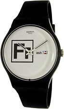 Swatch Men's Voice Of Freedom SUOB722 Black Silicone Swiss Quartz Watch