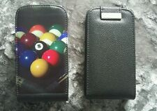 2 x Samsung galaxy s3 mobile flip case covers pool/snooker & black plain. New.