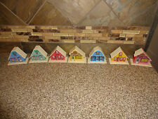 Vintage Plastic House Light Covers Lot of 7 Christmas Decoration