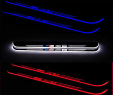 2pcs For BMW X6 2008-2015 LED Moving Welcome Pedal Lights Door Sill Scuff Plate