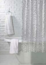 Silver Clear Luxury Mosaic Effect Shower Curtain 180cm X 180cm