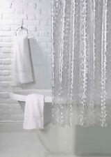 Silver Clear Luxury Mosaic Effect Shower Curtain 180cm X 180cm