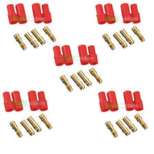 5 X PAIR RC HXT 3.5MM Gold Bullet Lipo Battery Connector Plane Helicopter Quad