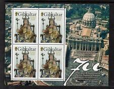 GIBRALTAR MNH 2009 700 YEARS OF DEVOTION TO OUR LADY OF EUROPE MINISHEET