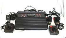 Atari 2600 Black Darth Vader System Console joysticks and paddles with 25 games