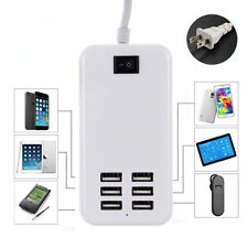 6 Port USB Desktop Multi-Function Fast Wall Charger AC Power Adapter US Plug KY