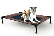 """K&H Pet Products Pet Cot Large Chocolate Dog Bed 30"""" x 42"""" x 7"""" – KH1625"""
