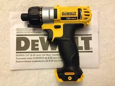 "New Dewalt DCF610B 1/4"" Hex 12 Volt 12V Max Screw Driver Lithium Ion"