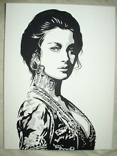 Canvas Painting Jane Seymour as Bond Girl Solitaire B&W Art 16x12 inch Acrylic