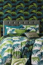 NEXT PALM LEAF KING SIZE BEDDING / DUVET SET - BNIP