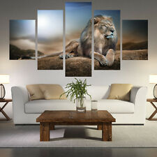 New HD Animals Lion Group Painting Canvas Print Room Decor Print Poster Picture