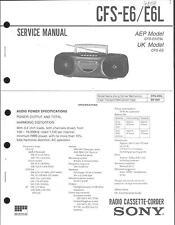Sony Original Service Manual per CFS-e 6/6l
