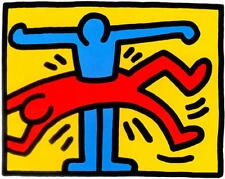 "Keith Haring ""POP SHOP vi (1)"" 1989 <> Martin Lawrence COA <> Estate S/N"