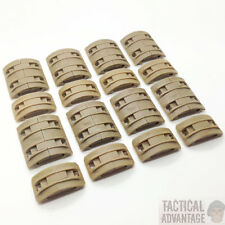 32 x Tan Airsoft AEG Handguard 20mm Rail Covers Magpul Style XTM Panels RIS UK