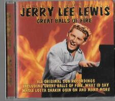 sealed new CD best of JERRY LEE LEWIS great balls of fire sun 50s rock n roll