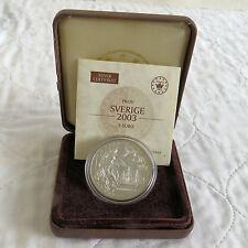 SWEDEN 2003 SILVER PROOF PIEDFORT 5 EURO ESSAI PATTERN - boxed/coa
