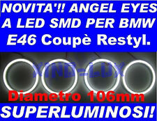 KIT ANGEL EYES LED SMD 106 mm BMW E46 coupè NO CCFL LUMINOSISSIMI msport