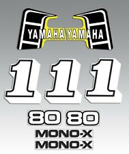 YAMAHA 1981 YZ80 STANDARD DECAL GRAPHIC KIT TANK STYLE version 2