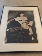 Mickey Mantle Gallo Signed Yankees Triple Crown Framed PSA DNA Letter