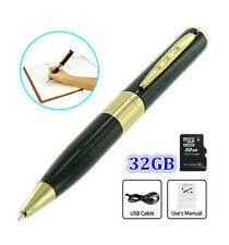32GB Memory HD Spy Pen Camera Hidden Camcorder Pinhole DVR Audio Video Recorder