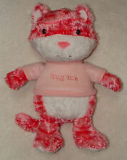 "Hallmark Huggables Hug Me Plush Kitty Cat Pink Talking kitten 14"" Stuffed Toy"