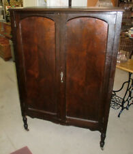 antique vintage wardrobe armoire chifferobe dresser closet original old finish antique mahogany armoire