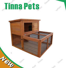 Large Double Story Rabbit House Chook Hutch Cage with RUN T023 975 * 555* 875 mm