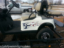 Golf Cart tribal American Flag Decals Flame Graphics EZGO Club Car Yamaha