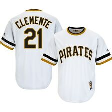 NWT Roberto Clemente Pirates Cooperstown Majestic Cool Base Jersey Size Large