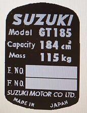 SUZUKI GT185 HEADSTOCK FRAME RESTORATION DECAL