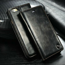 Luxury CaseMe Leather Wallet Case Stand Flip Cover for iPhone 5 5S 6 6S Plus