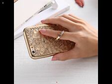 New 3D Diamond Crystal with Ring Case Cover For iPhone 6 Plus Blue