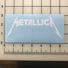 "Metallica Logo 6"" Wide White Vinyl Decal Sticker - BOGO"