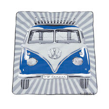 VW Volkswagen Split Screen Kombi Bus Campervan Picnic Rug Beach Blanket BLUE