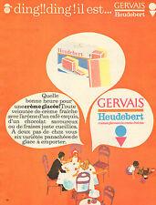 Publicité 1962  GERVAIS HEUDEBERT crèmes glacées à la crème fraiche ...