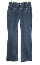 Identity Lord & Taylor - 2/34 - Dark-Wash Denim Low-Rise Straight Leg Jeans