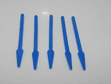 Lego Minifigure Lot Of 5 Blue Pike or Spear Flexible Rubber Weapons W2