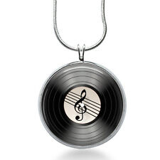 Record Music Pendant Necklace, Music Pendant, Vinyl, fashion jewelry, gifts