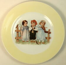 VINTAGE GERMANY PLATE CHILDREN PLAYING MUSICAL INSTRUMENTS PICTURE