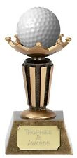 "GOLF Ball Holder Stand Trophy 3.75"" FREE ENGRAVING New Hole in One Personalised"